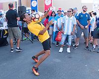Foxborough, MA - June 18, 2016: Argentina defeated Venezuela 4-1 during the quarterfinals of the Copa America Centenario at Gillette Stadium.