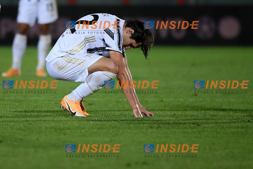 Enrico Chiesa of Juventus FC reacts during the Serie A football match between FC Crotone and Juventus FC at stadio Ezio Scida in Crotone (Italy), October 17th, 2020. Photo Federico Tardito / Insidefoto