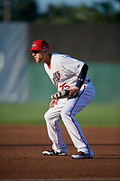 Auburn Doubledays first baseman Matt Skole (25) during a game against the Connecticut Tigers on August 8, 2017 at Falcon Park in Auburn, New York.  Auburn defeated Connecticut 7-4.  (Mike Janes/Four Seam Images)