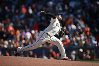 SAN FRANCISCO, CA - JULY 30:  Santiago Casilla #46 of the San Francisco Giants pitches against the Washington Nationals during the game at AT&T Park on Saturday, July 30, 2016 in San Francisco, California. Photo by Brad Mangin