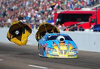 Feb. 18, 2012; Chandler, AZ, USA; NHRA pro stock driver Greg Stanfield during qualifying for the Arizona Nationals at Firebird International Raceway. Mandatory Credit: Mark J. Rebilas-