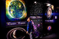 Visitors to the Museum of Science (MoS) in Boston, Massachusetts, is home to more than 500 interactive exhibits and the newly renovated Charles Hayden Planetarium, shown here.