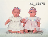 Interlitho, CHILDREN, photos, 2 babygirls(KL15975,#K#) Kinder, niños