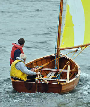 Jim Horgan's Droleen demonstrating the sail-carrying capacity of this beamy boat