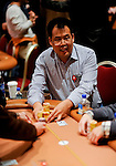 """Friend of PokerStars.net Bill Chen is happy with the flop but then gets beaten on the river.  He then ships his stack over to Men """"The Master"""" Nguyen."""