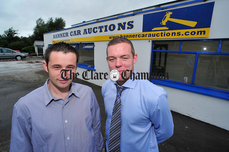 Brian Fitzpatrick and Shane Daniels of Banner Car Auctions. Photograph by Declan Monaghan