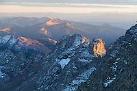 Sunset on Castle Peak's Southeast Ridge