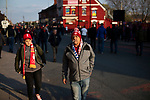Liverpool 2, Porto 0, 19/04/2019. Anfield Stadium, Champions League. Supporters gathering at Anfield Stadium prior to Liverpool's Champions League quarter-final first leg tie against Porto. The English team beat their opponents from Portugal 2-0. Photo by Colin McPherson.