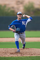 Kansas City Royals pitcher Mark McCoy (60) during an instructional league intersquad game on October 21, 2015 at the Papago Baseball Facility in Phoenix, Arizona.  (Mike Janes/Four Seam Images)