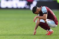 3rd October 2021;   City of London Stadium, London, England; EPL Premier League football, West Ham versus Brentford; A dejected Saïd Benrahma of West Ham United after the 1-2 loss