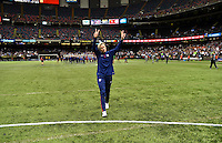 New Orleans, Louisiana - Wednesday, December 16, 2015: The USWNT lose 0-1 to China during their Victory Tour at Mercedes-Benz Superdome.