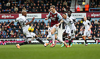 Pictured: Dwight Tiendalli of Swansea (L). 01 February 2014<br />