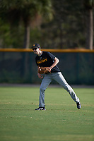 Jordan Mize (18), from Clintonville, West Virginia, while playing for the Pirates during the Baseball Factory Pirate City Christmas Camp & Tournament on December 30, 2017 at Pirate City in Bradenton, Florida.  (Mike Janes/Four Seam Images)