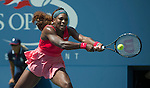 Serena Williams (USA) defeats Galina Voskoboeva (KAZ) at the US Open being played at USTA Billie Jean King National Tennis Center in Flushing, NY on August 29, 2013