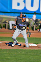 Eudy Ramos (28) of the Missoula Osprey on defense against the Ogden Raptors in Pioneer League action at Lindquist Field on July 13, 2016 in Ogden, Utah. Ogden defeated Missoula 8-2. (Stephen Smith/Four Seam Images)