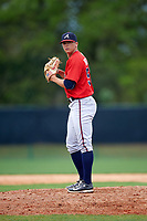 Atlanta Braves pitcher Bradley Roney (50) during an intrasquad Spring Training game on March 25, 2016 at ESPN Wide World of Sports Complex in Orlando, Florida.  (Mike Janes/Four Seam Images)