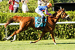 July 05, 2014: Minorette with Joel Rosario win the 36th running of the Grade I Belmont Oaks Invitational Stakes for 3-year old fillies, going 1 1/4 mile on the inner turf at Belmont Park. Trainer:Chad Brown . Owner:Mike Tabor, Susan Maginier, & Derirck Smith. Sue Kawczynski/ESW/CSM