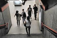 - young people in  Milan subway....- giovani in metropolitana a Milano