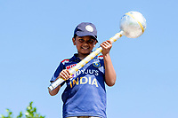 A young fan with his own Test Championship Mace during India vs New Zealand, ICC World Test Championship Final Cricket at The Hampshire Bowl on 23rd June 2021