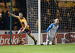 Motherwell v St Johnstone…06.02.18…  Fir Park…  SPFL<br />Allan Campbell celebrates his goal<br />Picture by Graeme Hart. <br />Copyright Perthshire Picture Agency<br />Tel: 01738 623350  Mobile: 07990 594431