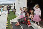 Goodwood Festival of Speed. Goodwood Sussex. UK. Yummy Mummy with three children.