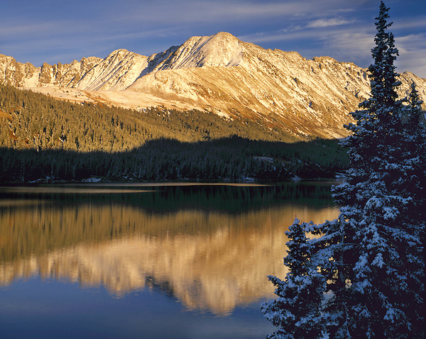 Tenmile Range and Climax Lake reflection, Summit County, Dillon, Colorado, USA. .  John leads private photo tours throughout Colorado. Year-round Colorado photo tours. .  John leads private photo tours in Boulder and throughout Colorado. Year-round Boulder photo tours.