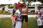 Jockeys Hugo Sanchez and Luis Saez, Scenes from Calder Race Course, Summit of Speed day. Miami Gardens,  Florida. 07-06-2013