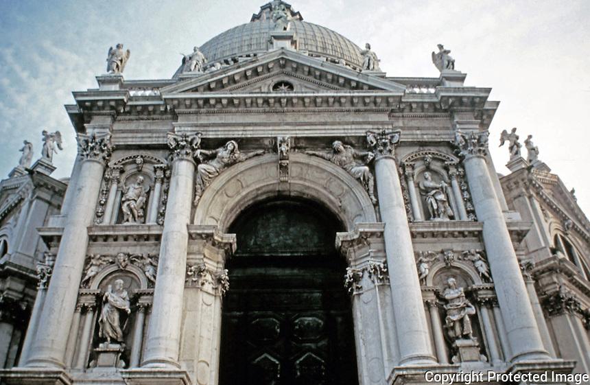 Santa Maria della Salute, Roman Catholic church in Venice, Italy.1681<br /> Baroque style by Baldassare Longhena.