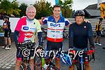 Ready for road in the Tom Crean Cycle fundraiser for Down Syndrome Kerry  on Saturday morning, l to r: Fionnbar Walsh, David Wallace and Chris Gaisey.