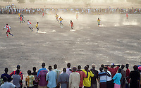 Football match at the Twic Olympics in Wunrok, Southern Sudan.