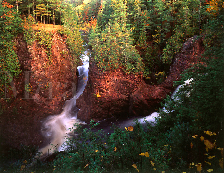 Brownstone Falls, Tyler Forks, Copper Falls State Park,WI. Copper Falls State Park, Wisconsin.