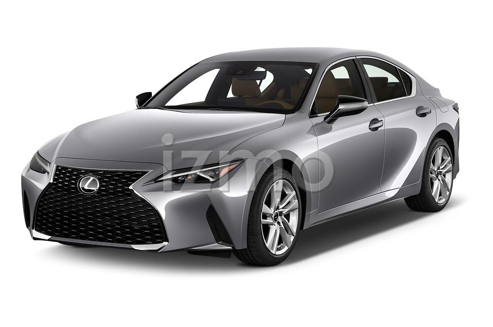 2021 Lexus IS 300 4 Door Sedan Angular Front automotive stock photos of front three quarter view