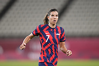 KASHIMA, JAPAN - AUGUST 5: Tobin Heath #7 of the United States during a game between Australia and USWNT at Kashima Soccer Stadium on August 5, 2021 in Kashima, Japan.