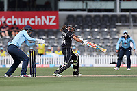 Action from the 1st ODI women's cricket international between New Zealand White Ferns and England at Hagley Oval in Christchurch, New Zealand on Tuesday, 23 February 2021. Photo: Martin Hunter / lintottphoto.co.nz