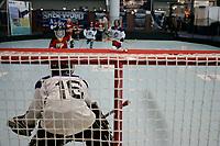 Boston (MA) USA - Jan 2006 file Photo. kids play ice hockey inside the Boston convention center