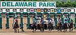 July 11, 2020: The field breaks from the gate in the Delaware Handicap on Delaware Handicap Day at Delaware Park in New Stanton, Delaware. Scott Serio/Eclipse Sportswire/CSM