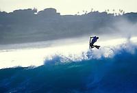Windsurfer off Kailua beach, Windward Oahu