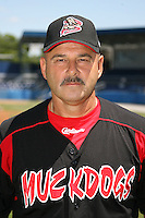 June 16, 2009:  Manager Mark DeJohn of the Batavia Muckdogs poses for a head shot before the teams practice at Dwyer Stadium in Batavia, NY.  The Batavia Muckdogs are the NY-Penn League Single-A affiliate of the St. Louis Cardinals.  Photo by:  Mike Janes/Four Seam Images