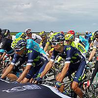 Mont-Saint- Michel-Utah Beach-FRANCIA -02-07-2016.Primera etapa del Tour de Francia entre las poblaciones de Mont-Saint- Michel-Utah Beach./Photo:VizzorImage / Natalia Guerra  / Contribuidora