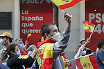 Neighbors from Madrid protest against the government on Ferraz street, in front of the PSOE headquarters, party of the Prime Minister Pedro Sanchez during the health crisis due to the Covid-19 virus pandemic - Coronaviruss. May 20,2020. (ALTERPHOTOS/Alejandro de Dios)