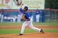 Kingsport Mets starting pitcher Harol Gonzalez (45) in action against the Elizabethton Twins at Hunter Wright Stadium on July 8, 2015 in Kingsport, Tennessee.  The Mets defeated the Twins 8-2. (Brian Westerholt/Four Seam Images)