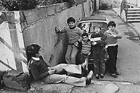 - district of shacks of 1908 earthquake in Messina o....- quartiere di baracche del terrremoto del 1908 a Messina