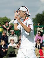 26-6-07,England, Wimbldon, Tennis,  Thiemo de Bakker is gefrustreerd