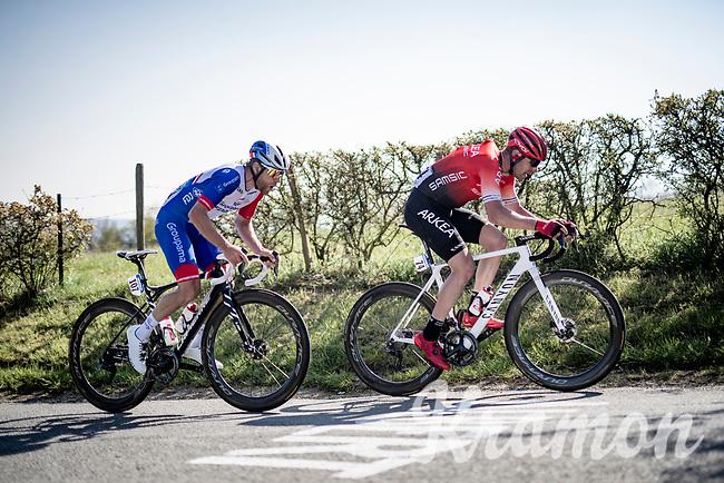 Łukasz Owsian (POL/Arkéa Samsic) up the Côte de La Redoute<br /> <br /> 107th Liège-Bastogne-Liège 2021 (1.UWT)<br /> 1 day race from Liège to Liège (259km)<br /> <br /> ©kramon