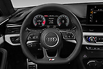 Car pictures of steering wheel view of a 2021 Audi A5-Coupe S-Line 2 Door Coupe Steering Wheel