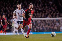 LONDON, ENGLAND - MARCH 04:  Nelson Oliveira of Swansea City chases the ball during the Premier League match between Tottenham Hotspur and Swansea City at White Hart Lane on March 4, 2015 in London, England.  (Photo by Athena Pictures/Getty Images)