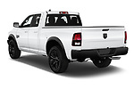 Car pictures of rear three quarter view of 2021 Ram 1500-Classic Warlock 4 Door Pick-up Angular Rear