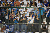 Guatemalan fans stand for the national anthem before the United States played Guatemala at Estadio Mateo Flores in Guatemala City, Guatemala in a World Cup Qualifier on Tue. June 12, 2012.