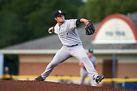 Staten Island Yankees starting pitcher Kolton Mahoney (57) during a game against the Batavia Muckdogs on August 27, 2016 at Dwyer Stadium in Batavia, New York.  Staten Island defeated Batavia 13-10 in eleven innings.  (Mike Janes/Four Seam Images)