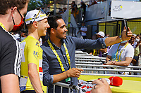 18th July 2021; Paris, France; CONTADOR VELASCO Francisco Javier (ESP) General Manager of EOLO-KOMETA CYCLING TEAM during stage 21 of the 108th edition of the 2021 Tour de France cycling race, the stage of 108,4 kms between Chatou and finish at the Champs Elysees in Paris.